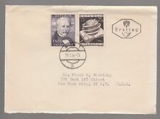 [32276] 1954 AUSTRIAN FIRST DAY COVER with SCOTT # 591 & B281 DATED 21 JAN. 1954