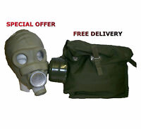 Soviet PMG Gas Mask With Bag And Filter Genuine Russian Army / Military Surplus