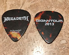 Megadeth - 2013 Gigantour Guitar Pick Pearl & White Tour Dave Mustaine