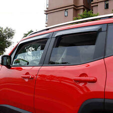 Window Visors Side Mirror Rain Guard Trim Fit for Jeep Renegade 2015-2017