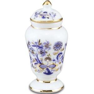 Dollhouse Blue Onion Large Vase w Lid 1.483/5 Reutter Miniature