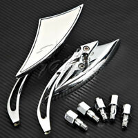 Pair Chrome Reariew Mirrors For Yamaha Vstar XVS 950 1100 1300 Classic Stryker