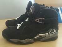 super popular 33deb 9f10a Air Jordan 8 VIII Retro Chrome Black White Graphite 305381-003 US Men Size 9