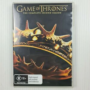 Game of Thrones Complete Second Season 2 DVD - Region 4 - TRACKED POST