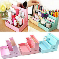 Paper Board Storage Box Desk Decor Stationery Makeup Cosmetic Organizer Case JS