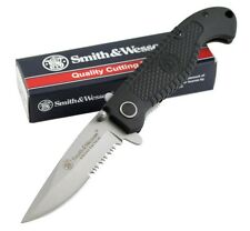Smith & Wesson - Special Tactical Liner Lock Folding Knife Partially Serrated Dr