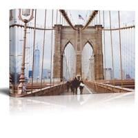 "Wall26 - Brooklyn Bridge Gallery - Canvas Art Wall Decor - 32"" x 48"""