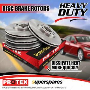 Protex Front + Rear Disc Brake Rotors for Jaguar XJ6 X300 3.2 4.0L 10/94 - 97