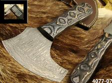 HANDMADE DAMASCUS STEEL KNIFE SADDLE LEATHER CUTTING KNIFE (4077-7