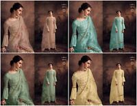 Designer Salwar Kameez Semi Stitched New Party Wear Suit Pakistani Indian Ethnic