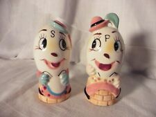 Vintage Anthropomorphic Mr. & Mrs Humpty Dumpty Egg Salt & Pepper Shakers