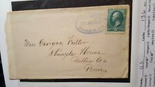 Us stamps 19th century used EAS scott 147 on cover Fine very clean light cancel