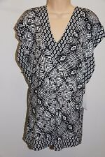 NWT Bar III Swimsuit Bikini Cover up Tunic Mini Dress Size S Black