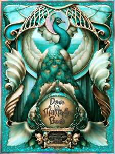 Dave Matthews Band Saratoga Springs Poster SPAC NC Winters DMB 2021 EMERALD FOIL