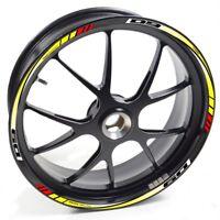 UKEN Sticker wheel Rim Yamaha MT 09 MT-09 MT09 yellow red strip tape vinyl adhes