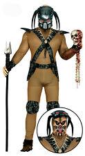Mens Predator Costume and Mask Alien Space Hunter 80s Halloween Film Fancy Dress