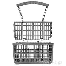 Cutlery Basket for INDESIT Dishwasher Plastic Cage Tray Lid & Removable Handle