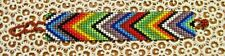 "NEW~Southwestern Hand Woven Glass Seed Bead Bracelet 1"" Wide ~ NEW ~ Item #T2007"