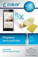 6x Ecultor Huawei Ascend P7 Mini Film de protection d'écran cristal clair