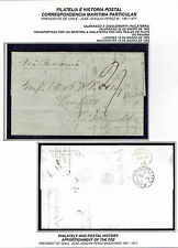CHILE TO UK STAMPLESS FOLDED LETTER 1862 VALPARAISO - LINFITTS