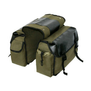 Leather Rear Bicycle Pannier Bag Waterproof Double Bike Cycle Storage Carrier