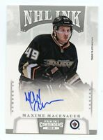13/14 PANINI CONTENDERS NHL INK AUTOGRAPH AUTO MAXIME MACENAUER JETS *43464