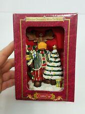 "Grandeur Noel Holiday Ornament with Tin Gift Box 4""  NIB ""MOOSE"" w/tree!"