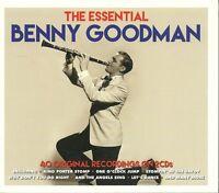 THE ESSENTIAL BENNY GOODMAN - 2 CD BOX SET - 40 ORIGINAL RECORDINGS