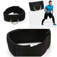 Multi D Ring Ankle Cuff Strap Cable Attachment Weight Lifting Gluts Workout AL