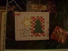 Joy Christmas Tree Ornament Design  Magazine Cross Stitch Pattern