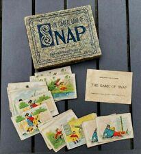 Antique Comical Game of Snap Parker Bros 1900s chromo litho card Black Americana