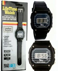 New Vintage 80's Old Stock Big Time DW4 Digital Wrist Watch Water R New Battery