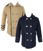 Couche Tot Boys Quilted Winter Coat Jacket and Hat Set 6 Months to 10 Years