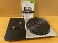 DJ hero 2 turntable & Game Xbox 360 *Tested And Works Great*