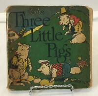 VINTAGE 1st Edition 1927 The Three Little Pigs HC Happy Hours Books GM Richards