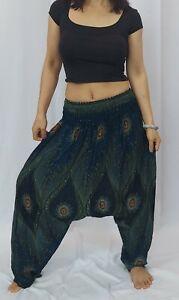 Women's Baggy Harem Pants Yoga Dance Hippie Boho Gypsy Loose Palazzo Trousers G4