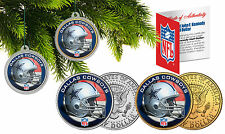 DALLAS COWBOYS Christmas Tree Ornaments JFK Half Dollar US 2-Coin Set NFL