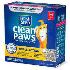 New listing Fresh Step Clean Paws Triple Action Scented Clumping Cat Litter , 22.5 lbs