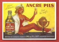 CARTE POSTALE PUBLICITAIRE BIERE ANCRE PILS EXPORT BEER PIN UP SEXY MARINE GLOBE