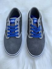 NEW Vans Skate Shoe Gray Royal Blue Mens Size 9