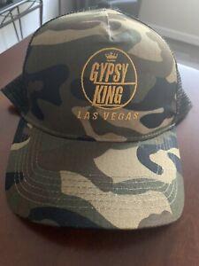Tyson Fury Gypsy King WBC Boxing Heavyweight Champion Camo Snapback Hat NWT
