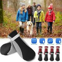 4x Dog Boots Anti-slip Soft Mesh Protective Shoe For Puppy Winter Pet Small B3A4