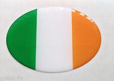 Bandera De Irlanda Resina Dome coche insignia Gel Oval Pegatina