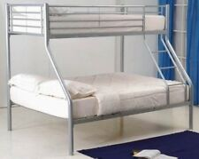 New Children's Silver Metal Triple Sleeper Single and Double Bunk Bed