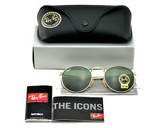 Ray-Ban RB3447 Round Metal 001 Gold Frame/ Green Classic G-15 Sunglasses 50mm
