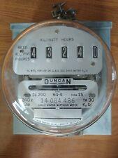 Duncan Single Stator Watthour Meter Type Mq-S, Cl200 Form 2S; 240V 3W + Mntg Box