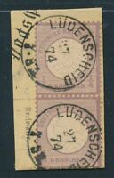 DT. REICH, Mi. 16 gestempelt, Paar auf Briefstück! Glasklarer Stempel!! Mi. 300,