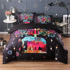 Double/Queen/King Bed Quilt/Doona/Duvet Cover Set Pillow Case Elephant Tree