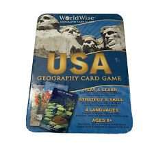 World Wise USA Geography Card Game Home Education Play and Learn