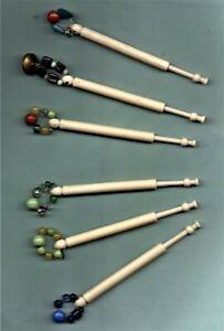 6 Antique Bovine Bone lace bobbins